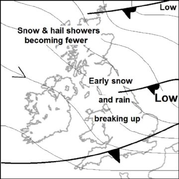 Synoptic chart for 23 Feb